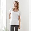 Slub Cotton Cap Sleeve T-shirt - White