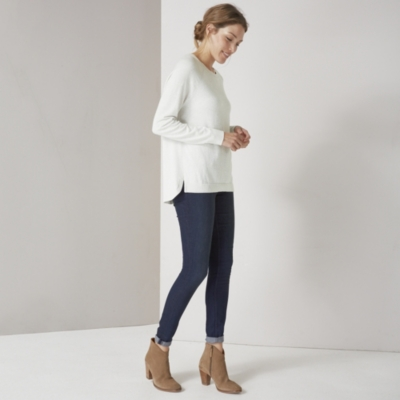 Split Back Detail Sweater - Cloud Marl