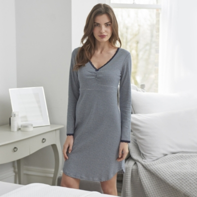 Stripe Bodice Nightdress