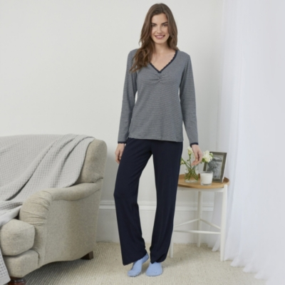 Stripe Bodice Pajama Set