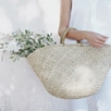 Straw Basket Bag - Natural
