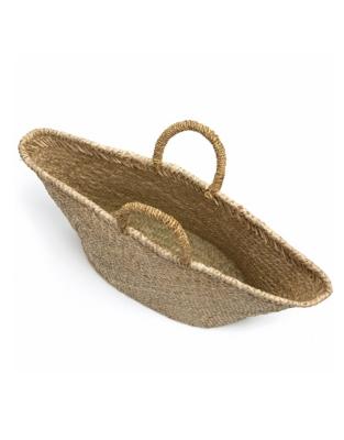 Straw Basket Bag - Natural