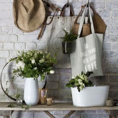 Do Small Things Heart Shopper Bag