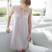 Scallop Lace Trim Night Gown - Blush