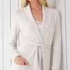 Cashmere Shawl Collar Robe - Cloud Marl
