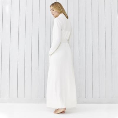 Cashmere Shawl Collar Robe - Porcelain