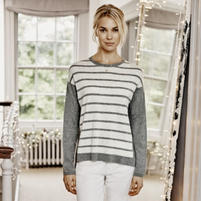 Stripe Colorblock Sweater