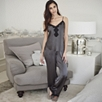 Scallop Lace Silk Pajama Set