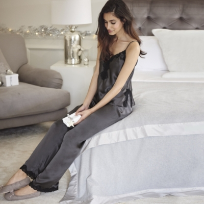 Scallop Lace Silk PJ Set