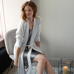 Cashmere Short Robe