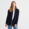 Shawl Collar Stitch Cardigan - Navy