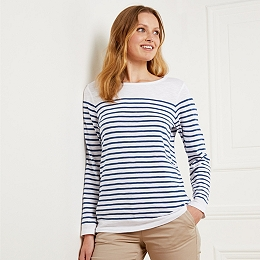 Slub Cotton Stripe T-Shirt