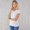 Soft Cotton Scoop Neck T-Shirt - Pale Blue