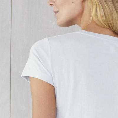 Soft Cotton Scoop Neck T-Shirt - Pale Blue