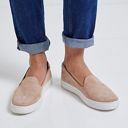 Suede Low Cut Slip On Trainers