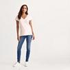 Soft Cotton V Neck T-shirt  - Pale Pink