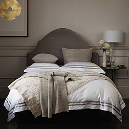 Mayfair Bed - Silver & Stone