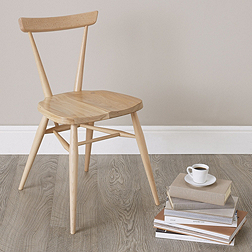 Ercol Stacking Chair - Natural