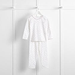 Scattered Spot Pyjamas - White
