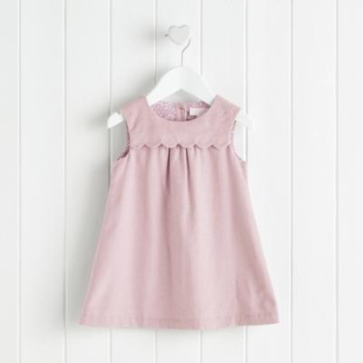 Scallop Corduroy Dress