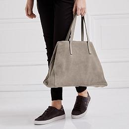 Suede Tote Bag