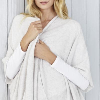 Stitch Detail Blanket Wrap