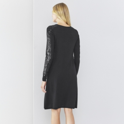 Sequin Detail Knitted Dress
