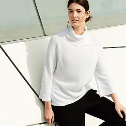 Split Detail Roll-Neck Sweater