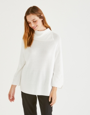 Split Detail Roll-Neck Sweater