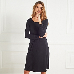 Swing Dress with Sparkle Buttons