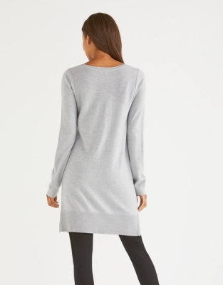 Stitch Detail Side Zip Tunic