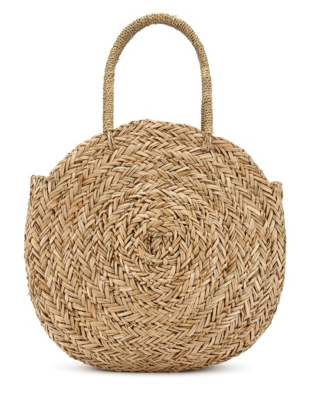 Seagrass Circular Basket Bag