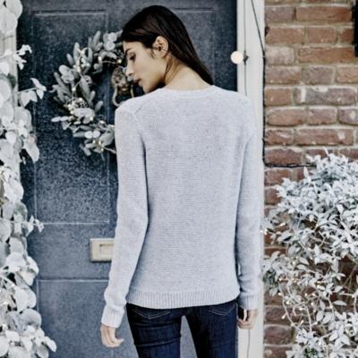 Sequin Crew Neck Sweater