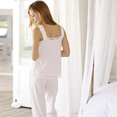 Scallop Edge Lace Trim Pajama Set