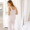 Scallop Edge Lace Trim Pajama Set