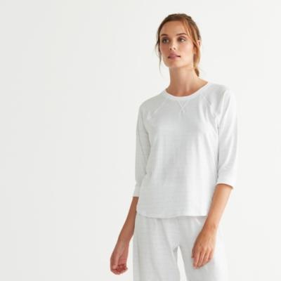 Raglan Stripe Pajama Top
