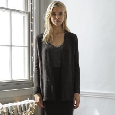 Sequin Cardigan - Black