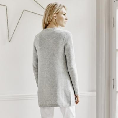 Sequin Cardigan - Pale Grey Marl