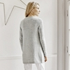 Sequin Cardigan - Pale Gray Marl