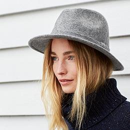 Wool Self Trim Fedora Hat