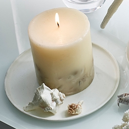 Seychelles Botanical Pillar Candle