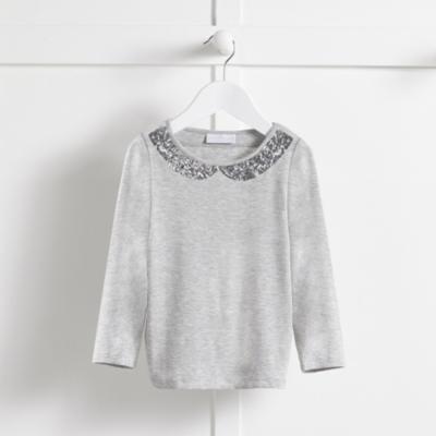 Sequin Collar T-shirt