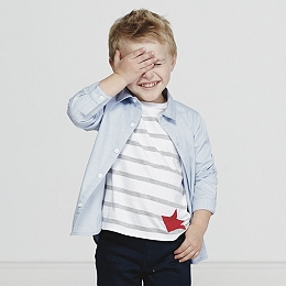 Star Embroidered Shirt (2-8yrs)