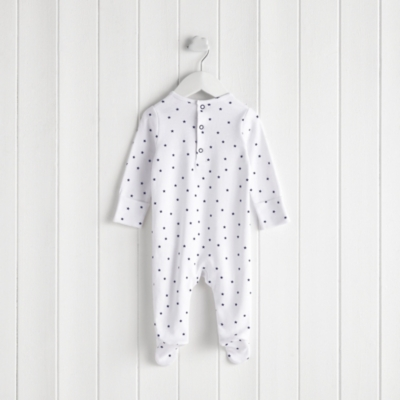 Star Embroidered Sleepsuit