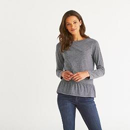 Stripe Frill Hem T-Shirt