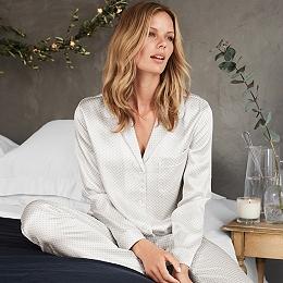 Silk Foulard print Pajamas