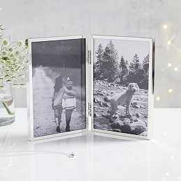 Fine Silver Hinged Picture Frame – 4x6""