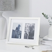 Double Aperture Classic Silver Photo Frame 4x6""