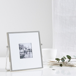 Fine Silver Easel Photo Frame 3x3''