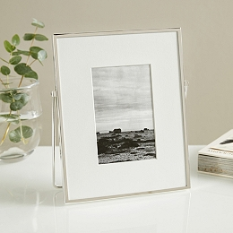 Fine Silver Easel Photo Frame 4x6